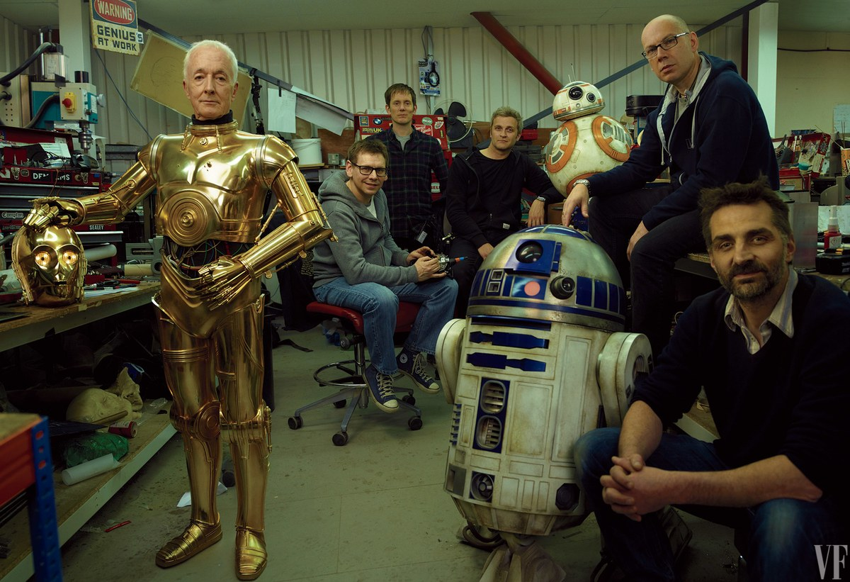 Anthony Daniels (C-3PO) a Star Wars VIII droid műhelyében