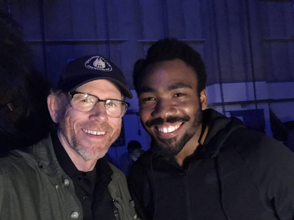 Ron Howard és a fiatal Landót alakító Donald Glover