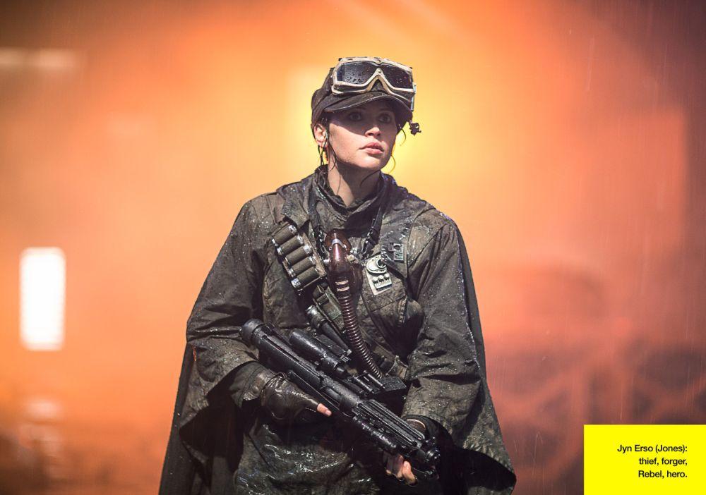 Jyn Erso (Felicity Jones) - tolvaj, hamisító, lázadó és hős. (forrás: Lucasfilm / Empire)