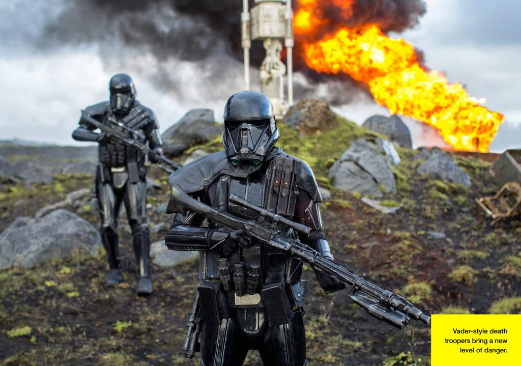 A Birodalom elit rohamosztagosai a halálosztagosok. A fekete páncélba két méter magas statisztákat bújtattak. (forrás: Lucasfilm / Empire)