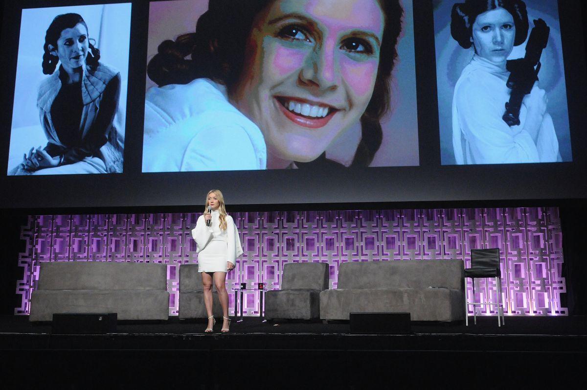 Carrie Fisher lánya, Billie Lourd felidézte az édesanyjától tanult szavakat.