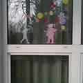 Vidám ablakdekorációk