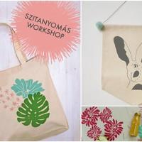 Szitanyomó workshop tavaszi színekkel és mintákkal!