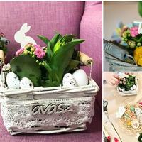 Friss, illatos, virágos tavaszi dekorokat készítünk!