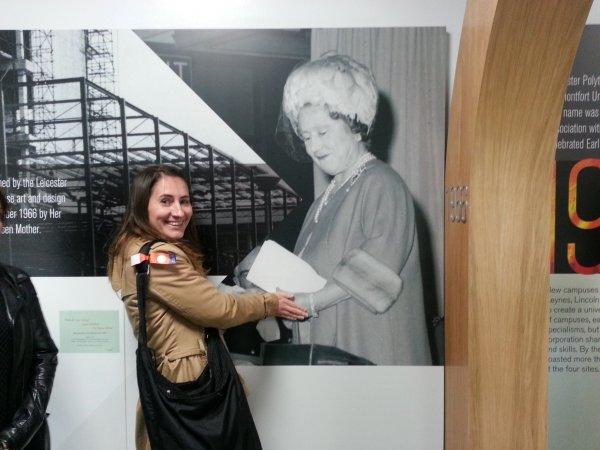 A tanulmányút egy különleges pillanata a Gloucestershire-i egyetemen