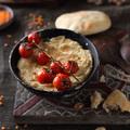 Vöröslencse hummusz