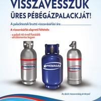 Visszavásárolja a PB-gázpalackokat a Prímagáz!