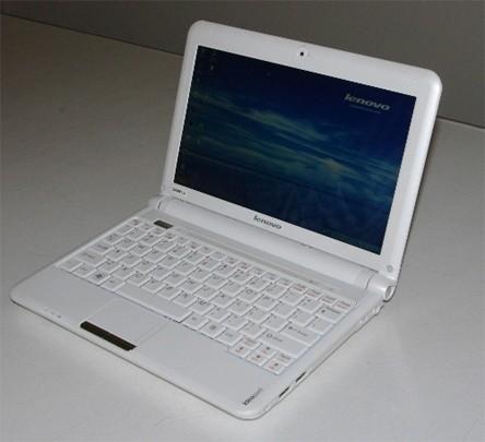 Fehér Lenovo IdeaPad S10 notebook modell