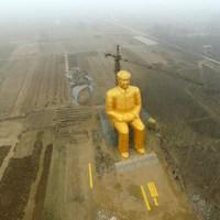 Eltávolították a minap Kínában felállított óriási Mao-szobrot