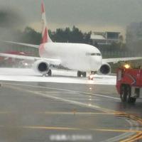 Tévedésből egy másik gépet szórtak tele habbal a tűzoltók egy kínai repülőtéren