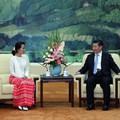 Nobel-békedíjas ellenzéki vezetőt fogadott a kínai elnök