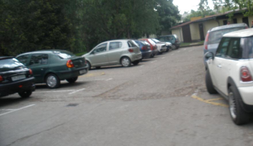 A váradóknál lévő parkoló