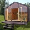 Moduláris ház 24 rétegű kartonpapírból
