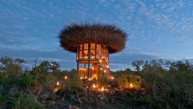 Madárfészek szálláshely Afrika szívében