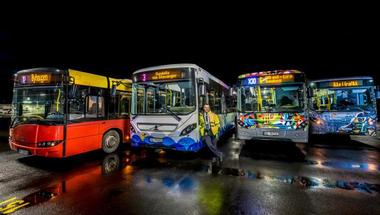 Street art buszok Norvégiában
