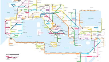 A Római Birodalom egy metrótérképen