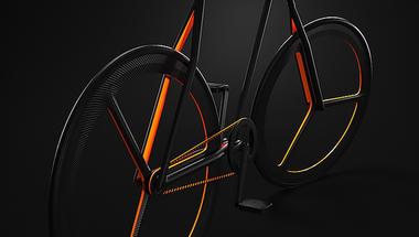 Spanyol designer Ion Lucin kerékpárja.