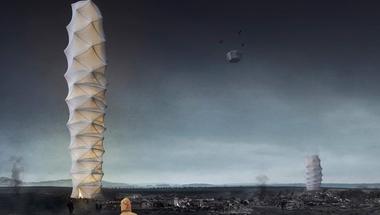 Skyshelter.zip, összecsukható felhőkarcoló