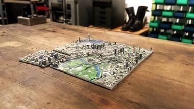 Realisztikus 3D-s térkép Tokióról