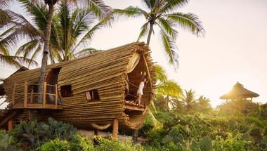 Bambusz szálláshely Mexikóban