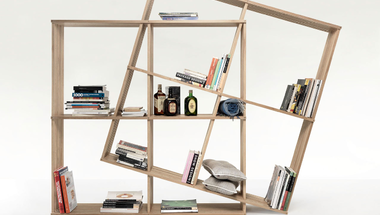 Az összehajtható és alakítható könyvespolc
