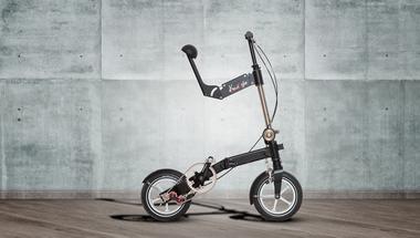 Kwiggle bike - a világ legkompaktabb összecsukható kerékpárja