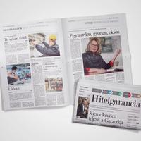 Hitelgarancia üzleti lap a Magyar Időkben