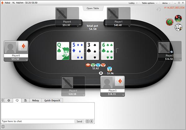 partypoker cash asztal