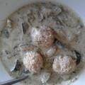 Cukkini + sóska + húsgombóc