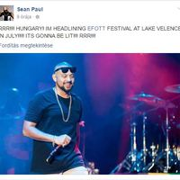 A Hurts mellett Sean Paul is fellép az EFOTT-on