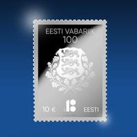 Ezüst bélyeget hozott forgalomba az Észt Posta