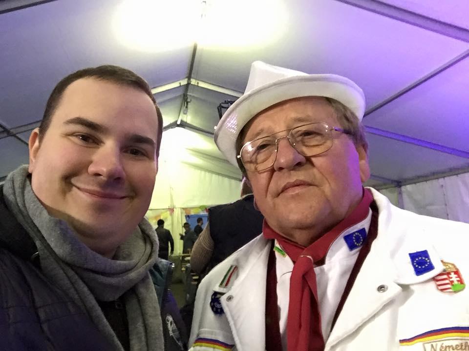 Koczka Máté PR tanácsadó, és Németh József zsűrielnök a Nemzeti Gasztronómiai Szövetségtől