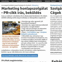 Webszolgálat - PR-cikk beküldés