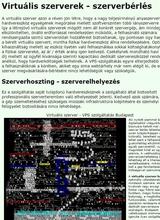 Virtuális szerver bérlés, VPS Budapest