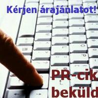 PR-cikk beküldése, megjelentetése