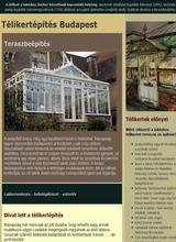 Télikertépítés Budapest. Teraszbeépítés