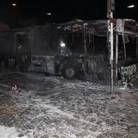 Vázig kiégett egy BKV busz.