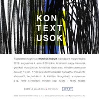 Kontextusok címmel kiállítás nyílik az Erdész Galériában, Szentendrén
