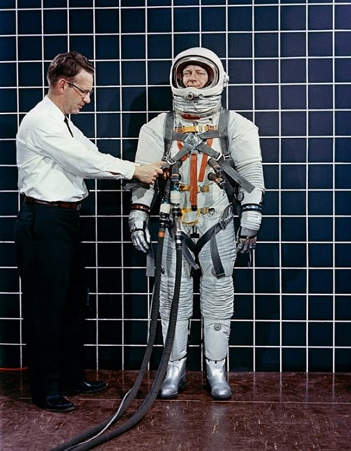 MSC Image of the Day - Space suit testing at MSC in 1964..jpg