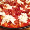 Sült gnocchi baconnal, paradicsommal és mozzarellával