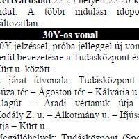 Buszjáratot neveztek el a 30Y-ról Pécsen
