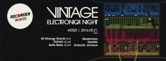 Recorder presents Vintage Electronica Night