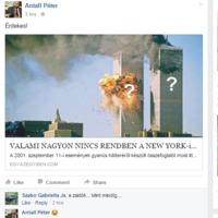 Antall Péter szerint szeptember 11 nem is úgy történt