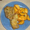 Fűszeres, porhanyós tarja sült krumplival
