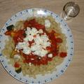 Zsályás-kolbászos-paradicsomos tészta ( 2 adag)