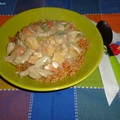 Erdei gombás- tárkonyos csirkemellragu