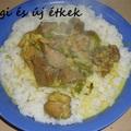 Spárgás malac curry