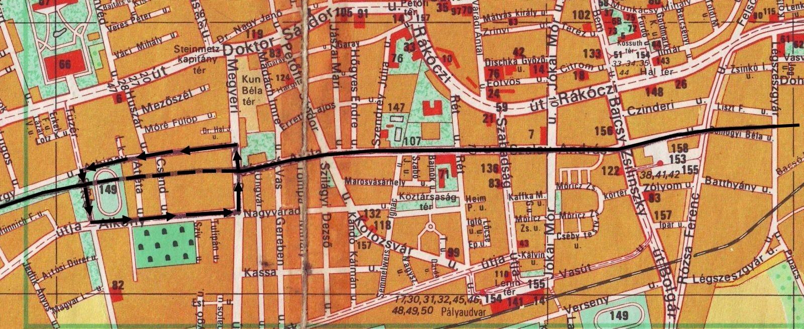 pécs vasútállomás térkép Hatos főút a belvárosban 2.   Régi Pécs pécs vasútállomás térkép