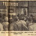 Televízió a Corvin áruház kirakatában - Szabad Nép 1956 szeptember 11.