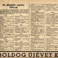 Az újjáépítés naptára 1946-ból - Kis Újság 1947. január 1.